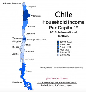 Chile Household Income Map 1