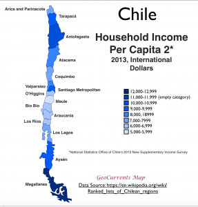 Chile Household Income Map 2