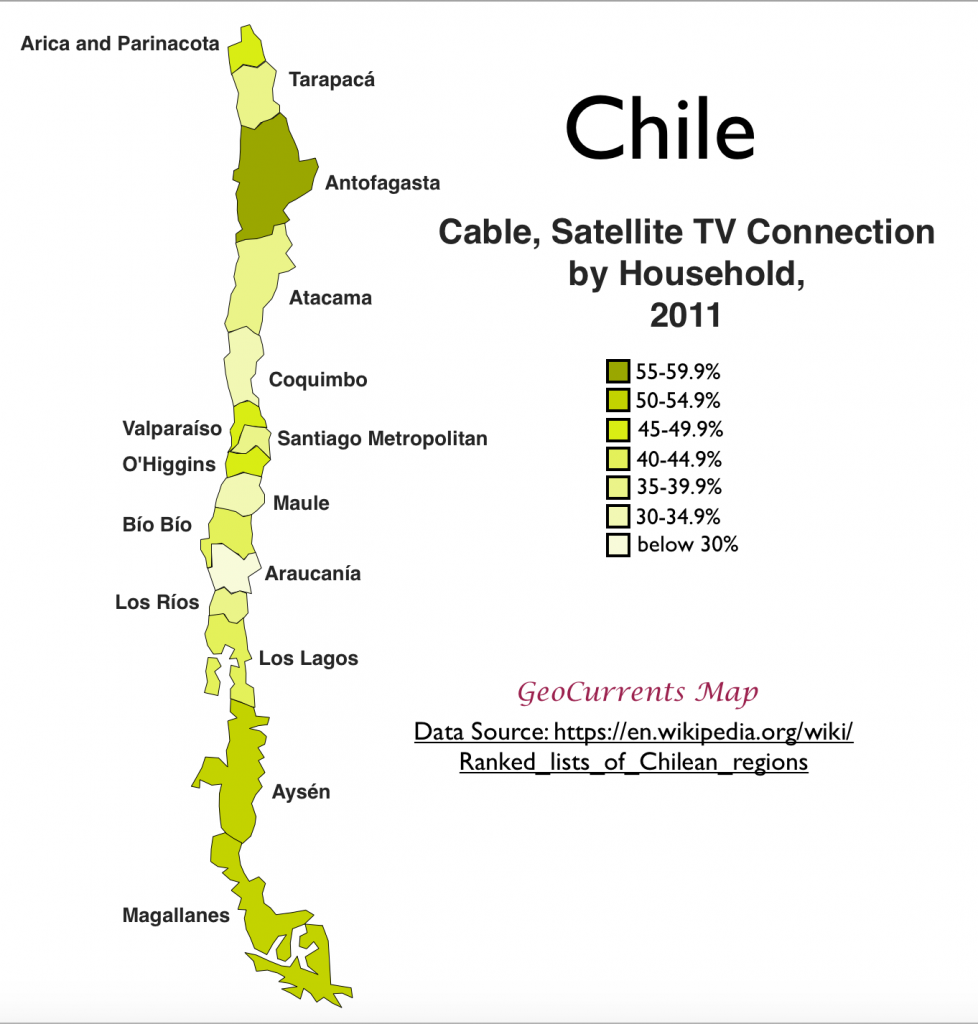 The physical and economic geography of chile