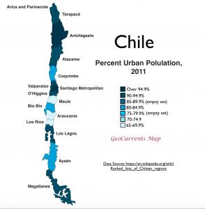 Chile Urban Population Map