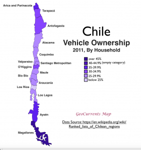 Chile Vehicle Ownershp Map