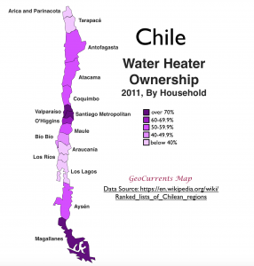 Chile Water Heater Map