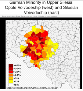 German Minority in Upper Silesia Map