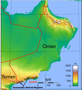 Humid Areas of Dhofar Map3