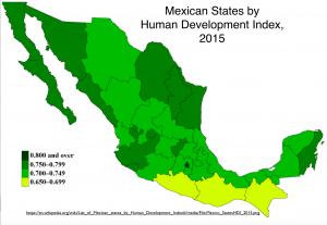 Mexico HDI Map