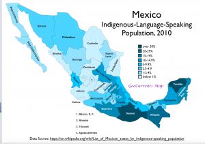Mexico Indigenous Langauge Map