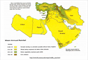 Middle East Rainfall Map