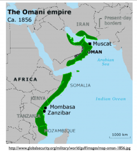 Omani Empire 1856 Map