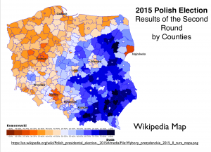 Poland 2015 Election Map