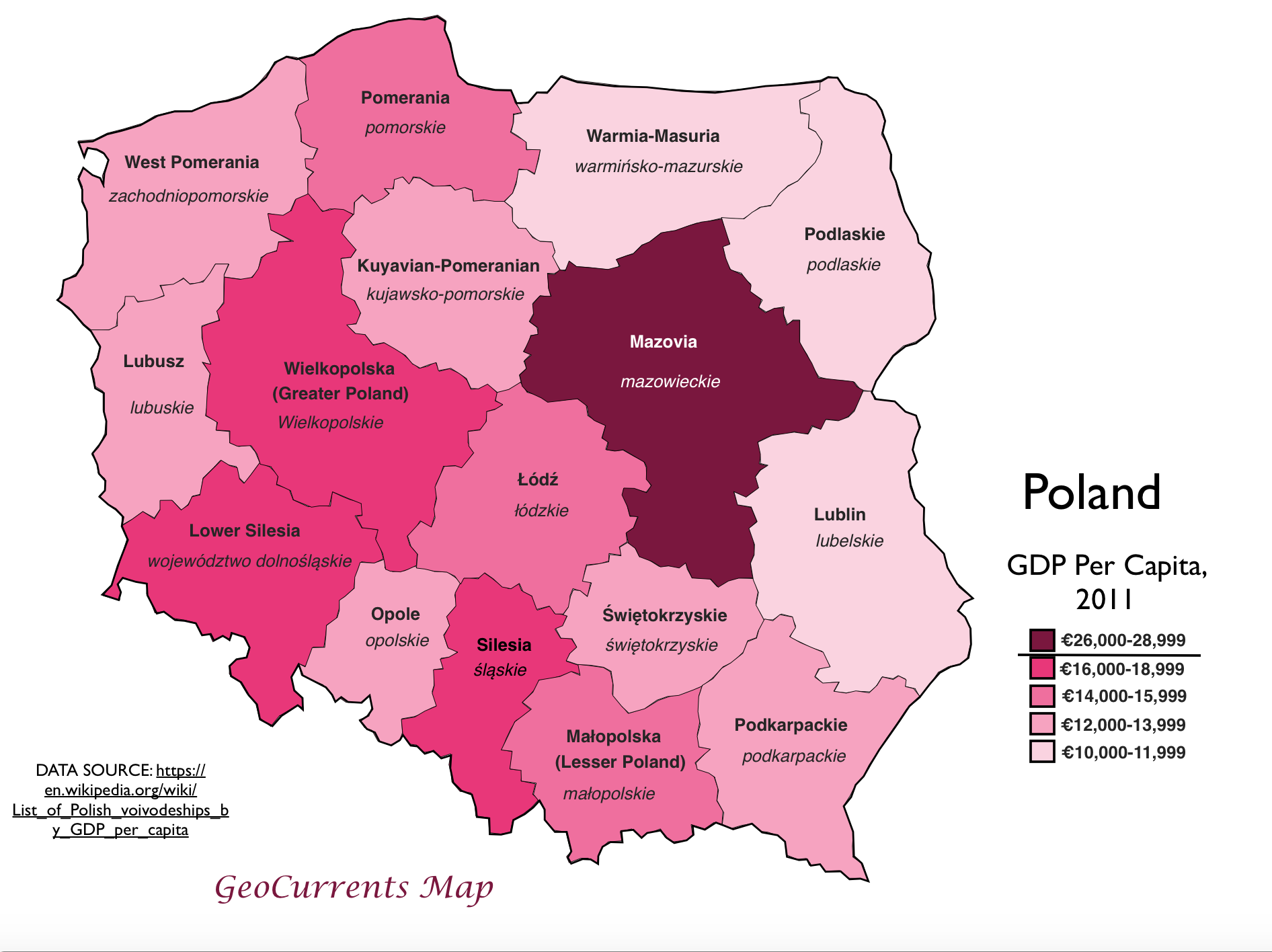 Poland Gdp Per Capita Map