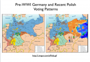 Poland Voting Pre-War Germany Map 2
