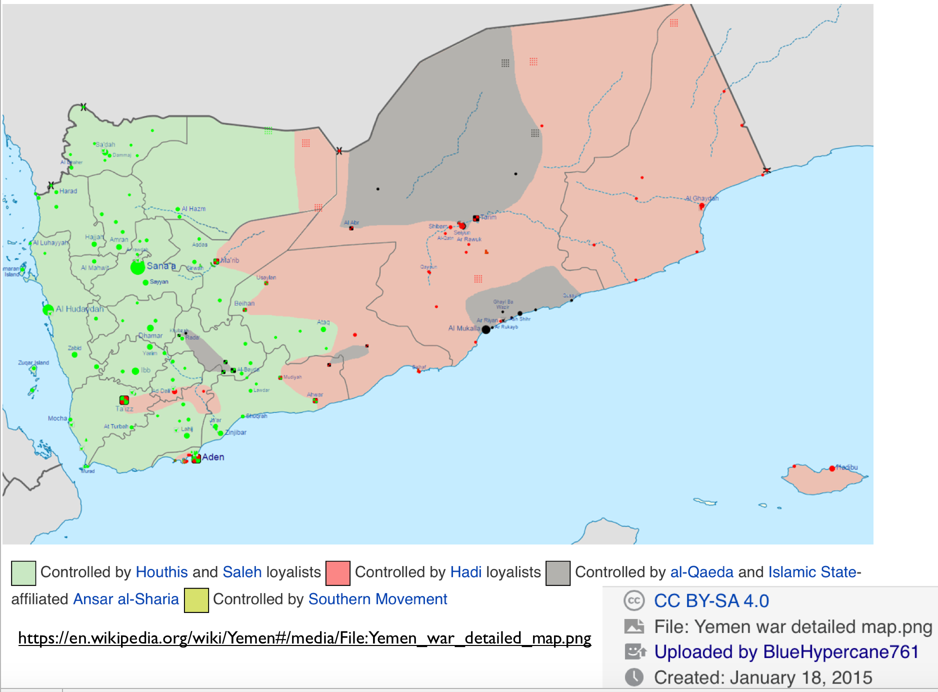 Political Map Of Yemen.Yemen January 2015 Political Map2 Geocurrents