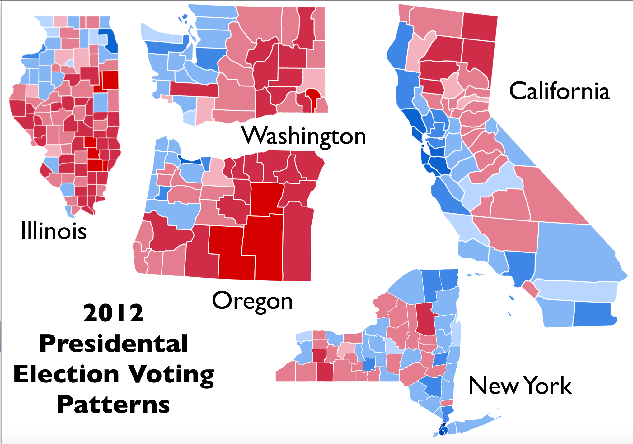 The 2012 Us Election Divided States Map