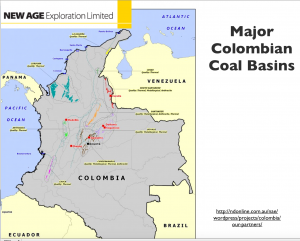 Colombia coal map