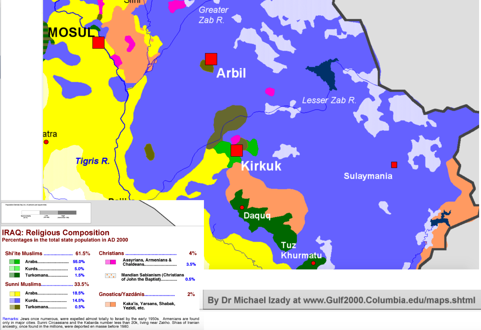 kirkuk area religion map