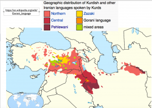 Kurdish languages map 2
