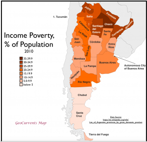 Argenina poverty map