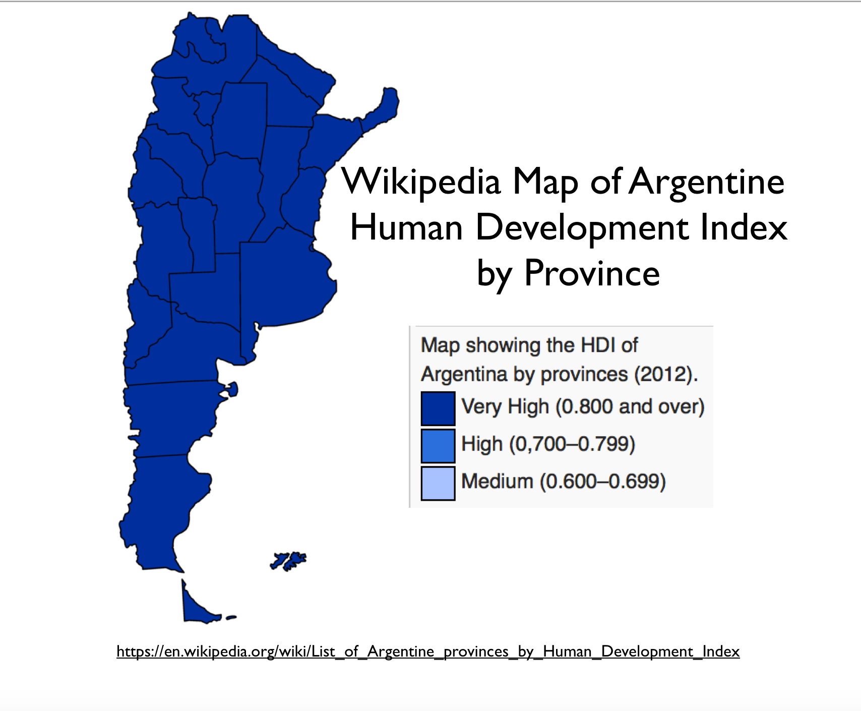 Argentinas HDI The Wikipedias Worst Map GeoCurrents - Argentina election map