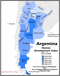 Argentina HDI by Province Map