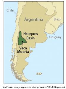 Argentina Vaca Muerta Map