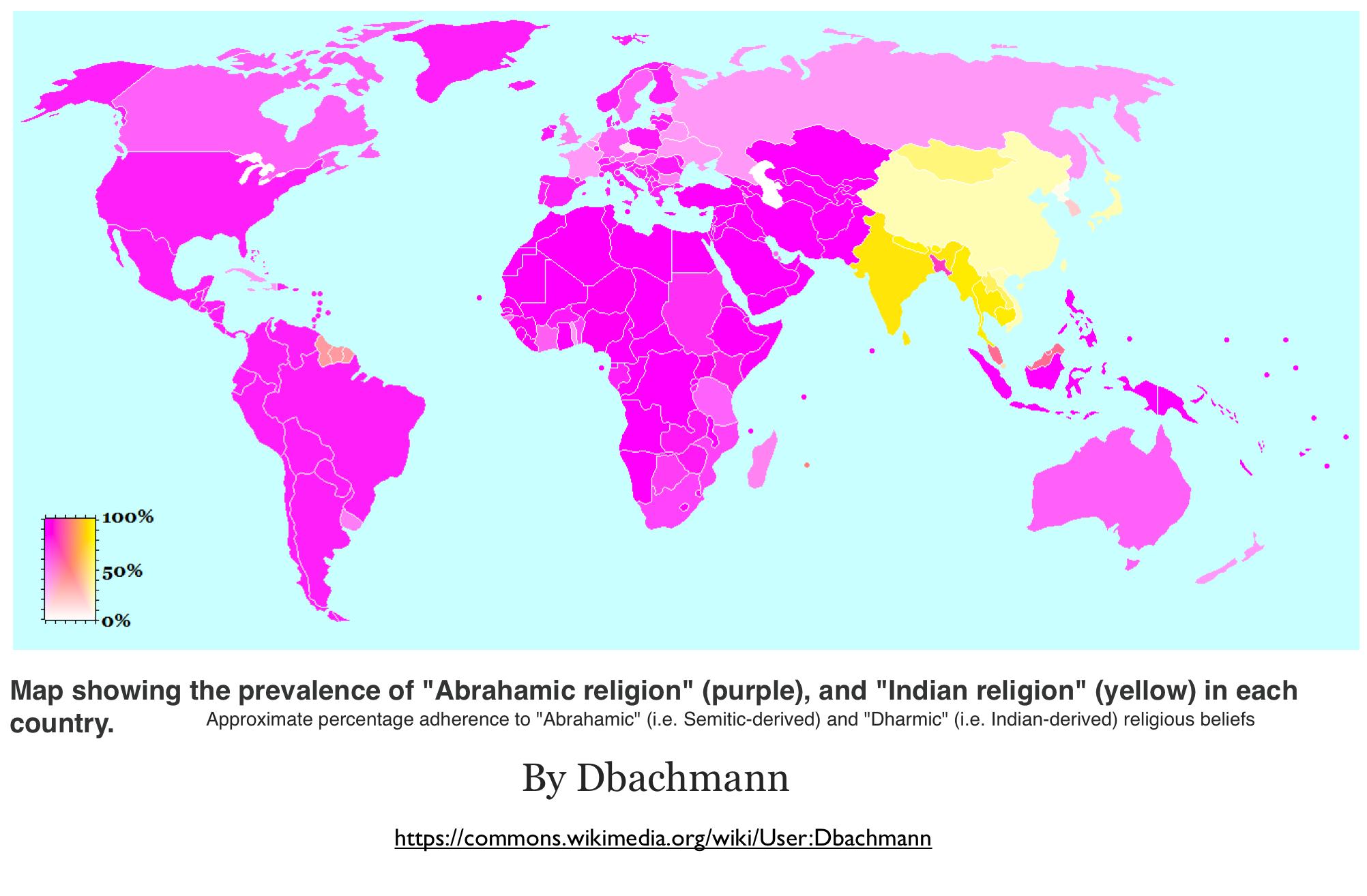 Innovative Wikipedia Maps Of World Religion Geocurrents