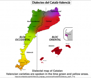 Catalan Dialects Map