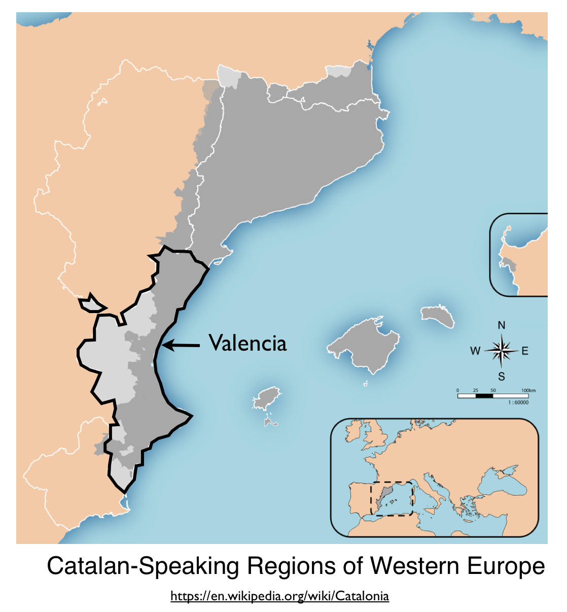 Valencia and the pasos catalans controversy geocurrents catalan language valencia map gumiabroncs Image collections