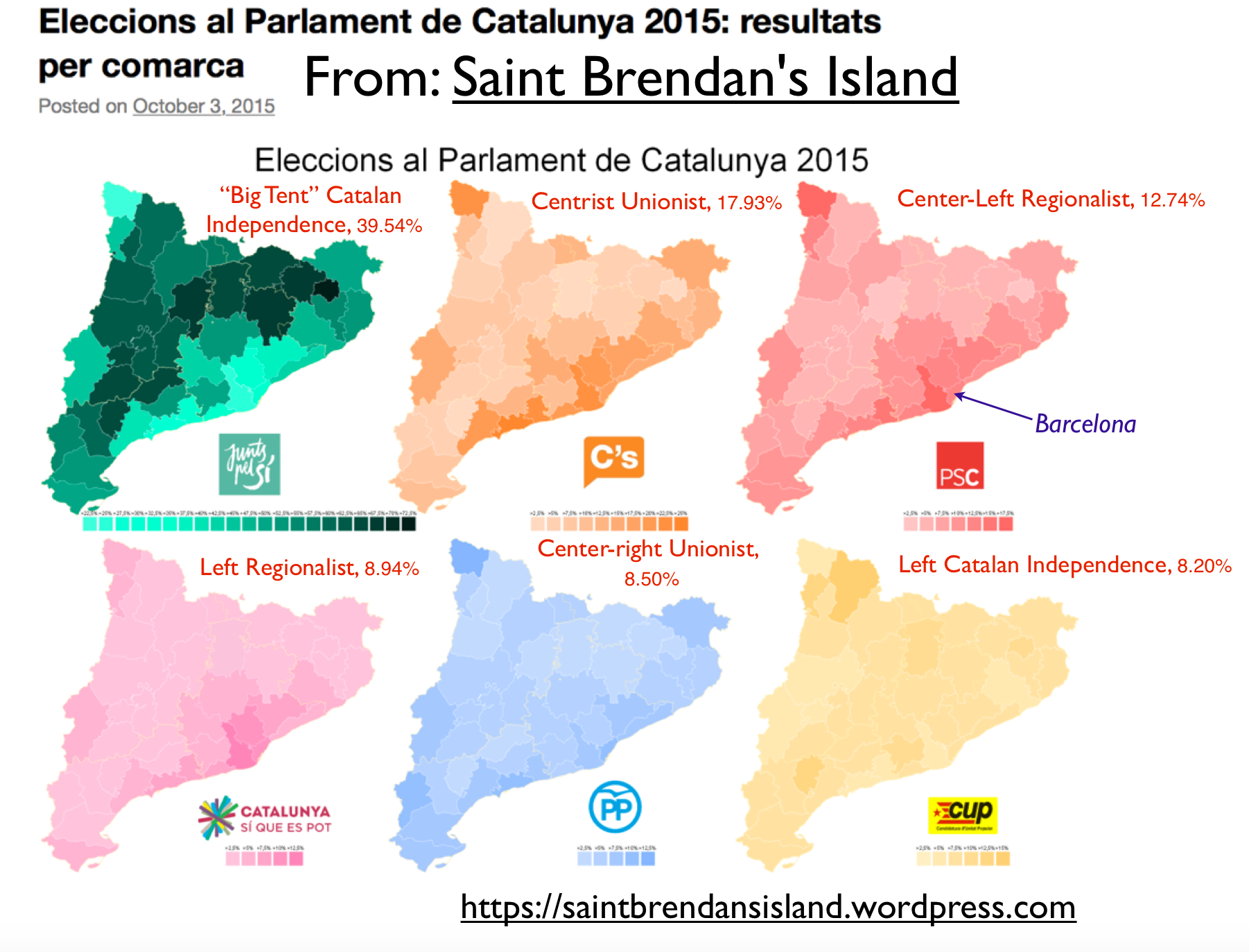 catalonia 2015 election map