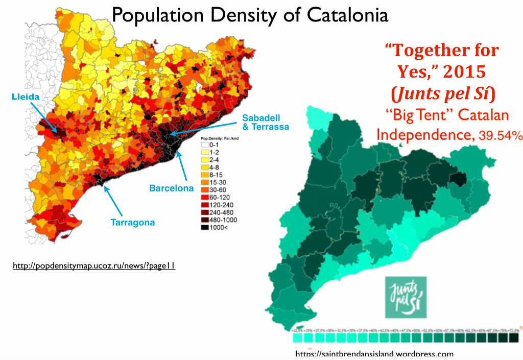 the ruralurban divide in catalonias 2015 election