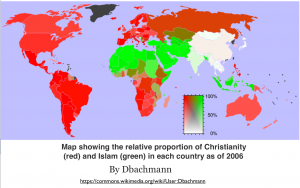 Christianity and Islam World Map