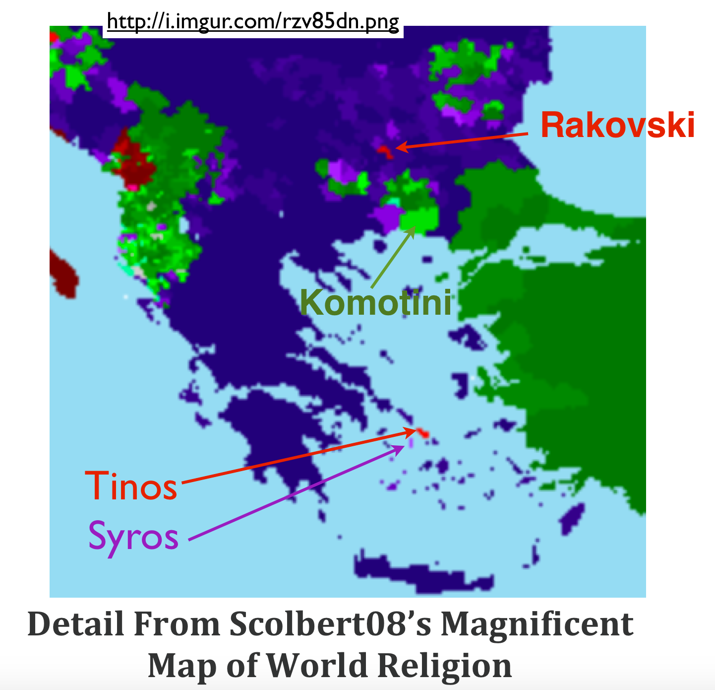 Scolbert08s magnificent map of world religion part 1 geocurrents scolbert08 religion map balkans gumiabroncs Gallery