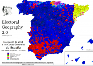 Spain 2011 Election Map