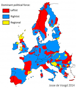 Europe Political Orientation Map