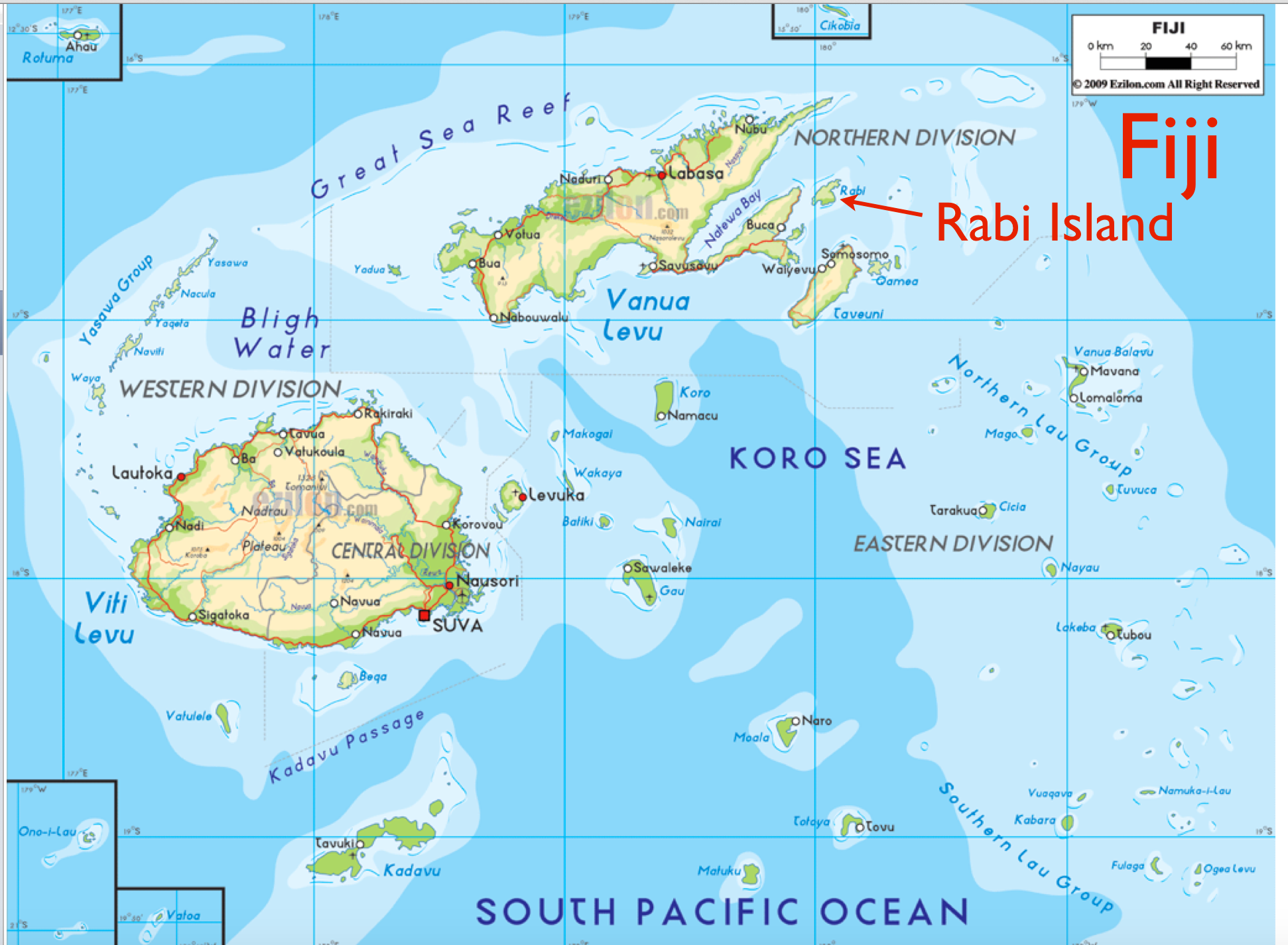 Part of Kiribati, But Administered from Fiji