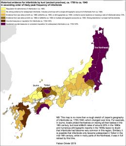 Infanticide Japan Map