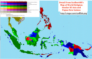 Insular Southeast Asia Religion Map