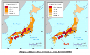 Japan Shinto Buddhism Map