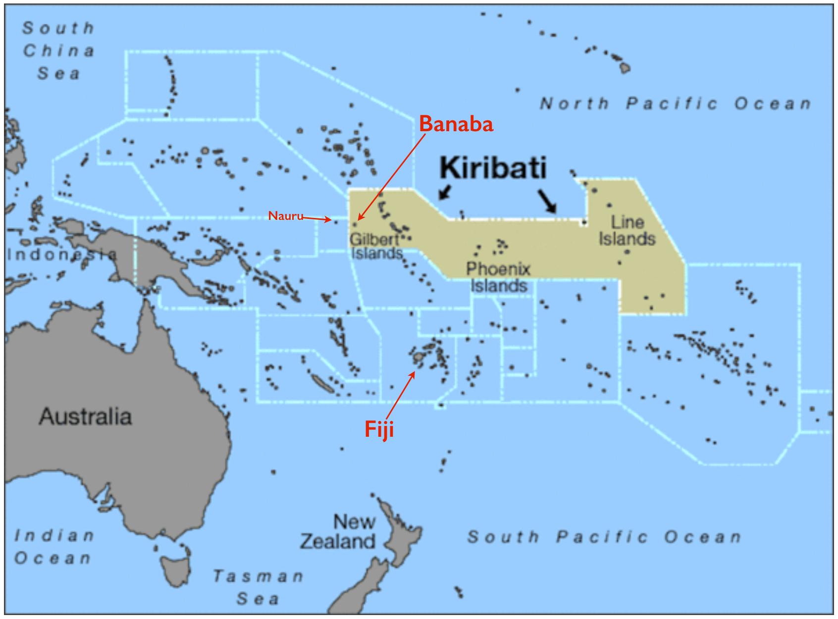 The anomaly of banaba island part of kiribati but administered kiribati banaba map gumiabroncs Images