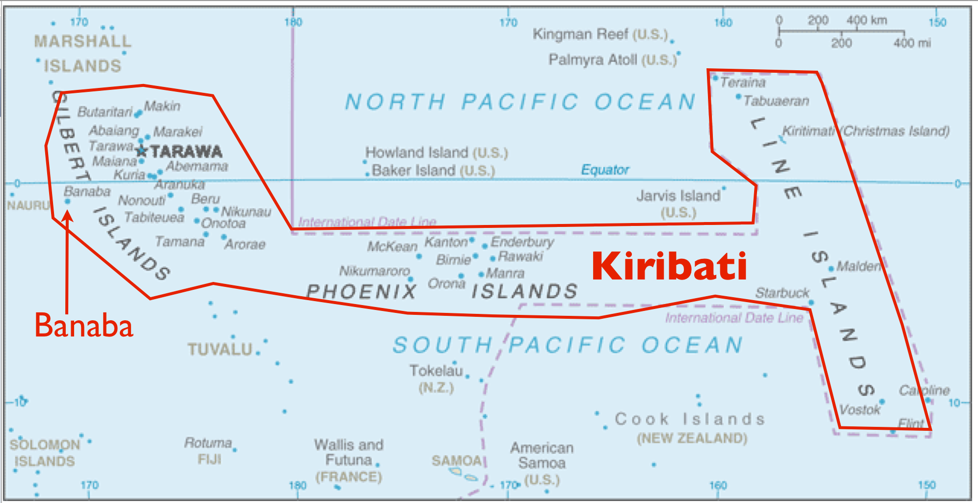 The Anomaly of Banaba Island Part of Kiribati But Administered