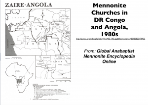Mennonites in Congo Map