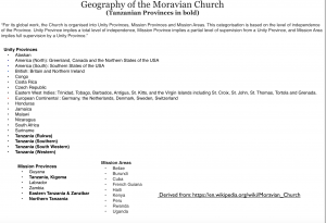 Moravian Church Geography