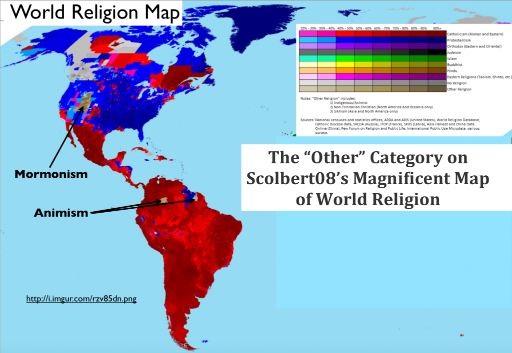 Cartography GeoCurrents - Usa religion map