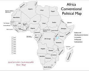 Africa Customizable Map 2