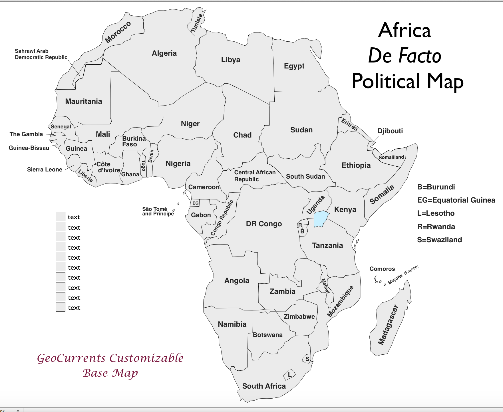 Free Customizable Maps Of Africa For Download GeoCurrents - Map africa