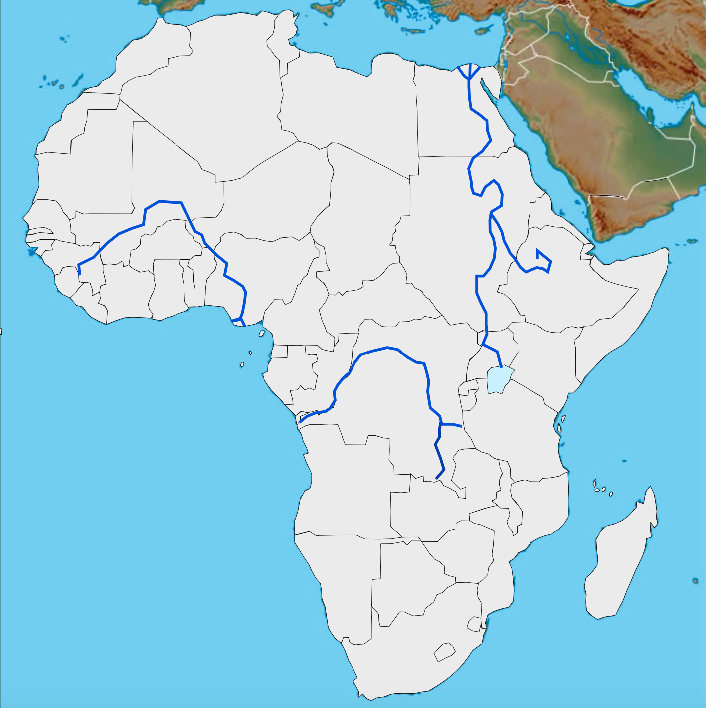 Free Customizable Maps Of Africa For Download GeoCurrents - Burundi clickable map