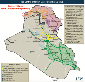 Iraq War November 2015 ISW Map