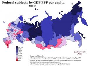 Russia Per Capita Regional Product Map
