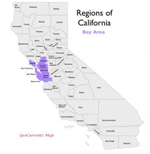 California Bay Area Region Map 2