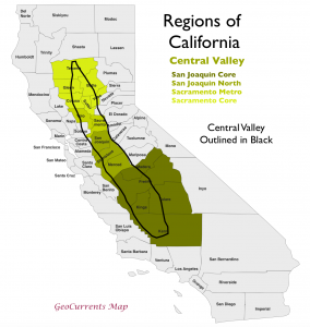 California Central Valley Region Map 2