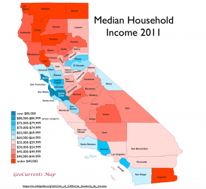 California Income Map